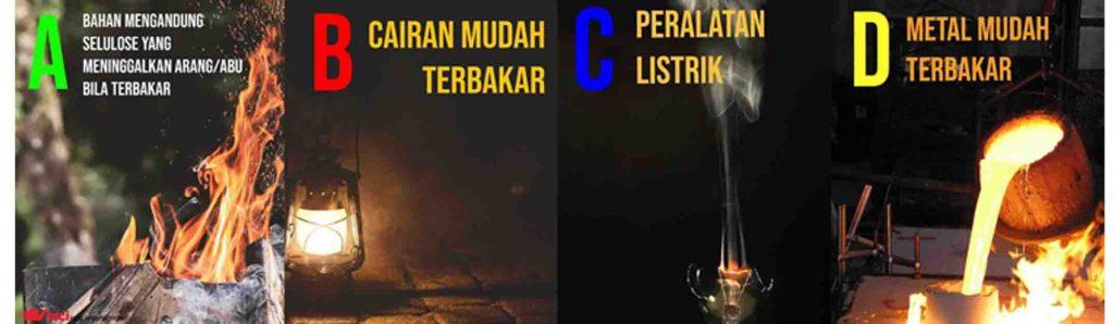 klasifikasi kelas kebakaran